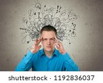 adhd stress anxiety adult hard... | Shutterstock . vector #1192836037