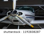 small airplane in a hangar | Shutterstock . vector #1192838287