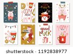 set of creative 8 journaling... | Shutterstock .eps vector #1192838977