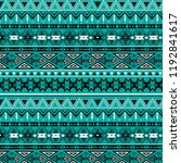 tribal art pattern. ethnic... | Shutterstock .eps vector #1192841617