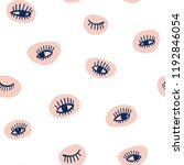 hand drawn eye doodles icon... | Shutterstock .eps vector #1192846054