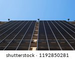 bottom up perspective view of a ... | Shutterstock . vector #1192850281