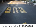 sign of bus stop on the street... | Shutterstock . vector #1192850284