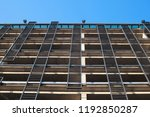 bottom up view of a metal... | Shutterstock . vector #1192850287