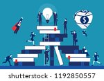 through education and learning... | Shutterstock .eps vector #1192850557