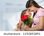 happy mother and child | Shutterstock . vector #1192852891