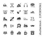 winter sports flat glyph icons. ...   Shutterstock .eps vector #1192854361