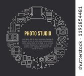 photography equipment poster... | Shutterstock .eps vector #1192854481