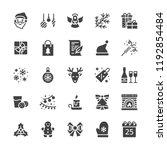 merry christmas flat glyph... | Shutterstock .eps vector #1192854484