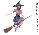 3d cg rendering of magical girl | Shutterstock . vector #1192856554