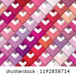 colorful palette seamless... | Shutterstock .eps vector #1192858714