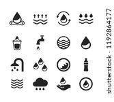 water icons set isolated on... | Shutterstock .eps vector #1192864177
