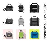 vector illustration of suitcase ... | Shutterstock .eps vector #1192873804