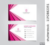 professional card name design... | Shutterstock .eps vector #1192882351