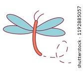 dragonfly cute cartoon | Shutterstock .eps vector #1192885057