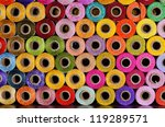 Many Colorful Spools Of Thread...