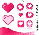 vector design kit of pixel...   Shutterstock .eps vector #119289841