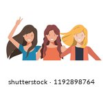 young women avatar character | Shutterstock .eps vector #1192898764