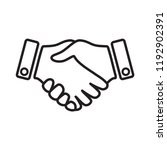 hand icon  hand shake icon in... | Shutterstock .eps vector #1192902391