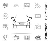 a car icon. navigation icons...