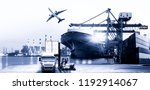 logistics and transportation of ... | Shutterstock . vector #1192914067