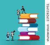 businessmen help his friend... | Shutterstock .eps vector #1192921951