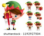 Christmas Elf Vector Character...
