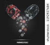 vector polygonal art style open ... | Shutterstock .eps vector #1192927684