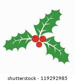 Christmas holly berry - vector illustration - stock vector