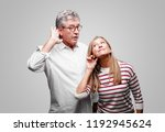 senior cool husband and wife... | Shutterstock . vector #1192945624