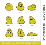 vector emotional expressions set 4