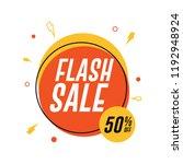 flash sale circle banner. 50 ... | Shutterstock .eps vector #1192948924