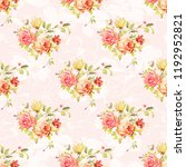 seamless floral pattern with... | Shutterstock .eps vector #1192952821