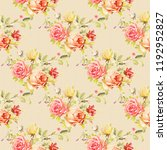 seamless floral pattern with... | Shutterstock .eps vector #1192952827
