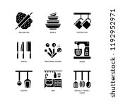 kitchen and cookware icons | Shutterstock .eps vector #1192952971