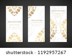 invitation templates. cover... | Shutterstock .eps vector #1192957267