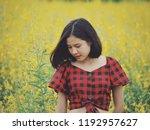 asian beautiful girl portrait... | Shutterstock . vector #1192957627