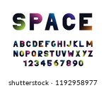 vector  abstract font and... | Shutterstock .eps vector #1192958977