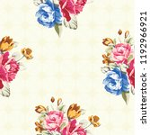 seamless floral pattern with... | Shutterstock .eps vector #1192966921