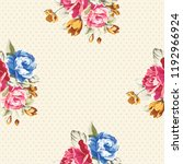 seamless floral pattern with... | Shutterstock .eps vector #1192966924