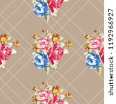seamless floral pattern with... | Shutterstock .eps vector #1192966927