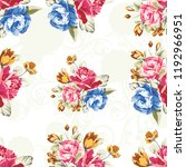 seamless floral pattern with... | Shutterstock .eps vector #1192966951