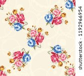 seamless floral pattern with... | Shutterstock .eps vector #1192966954