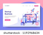 landing page template of... | Shutterstock .eps vector #1192968634