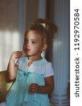 child  childhood concept. kid...   Shutterstock . vector #1192970584
