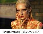 makeup  beauty  visage makeup...   Shutterstock . vector #1192977214
