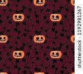 halloween pumpkin plant...   Shutterstock .eps vector #1192981267