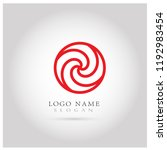 abstract swirl circle logo.... | Shutterstock .eps vector #1192983454
