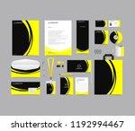 corporate identity set template ...   Shutterstock .eps vector #1192994467
