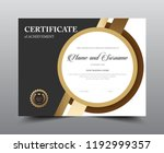 certificate layout template... | Shutterstock .eps vector #1192999357